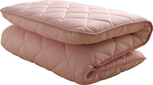 敷布団 超ボリューム 4層 厚み140mm 防ダニ 抗菌 日本製 シングル ピンク