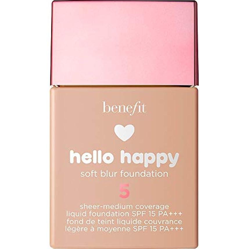 中庭ポット勇敢な[Benefit] こんにちは幸せなソフトブラー基礎Spf15 30ミリリットル5に利益をもたらす - メディアクールに - Benefit Hello Happy Soft Blur Foundation SPF15...