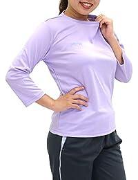 [ケイパ] ランニングウェア スポーツ ドライ Tシャツ 7分袖 吸汗速乾 UVカット レディース