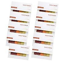 付箋紙 メモステッカー ノート付箋 ラベル 付箋事務用品 オフィス用品 約10パッドセット 全8色 - D