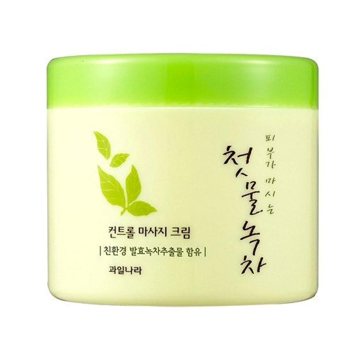 幽霊ジェット最大のwelcos[ウェルコス] コントロールマッサージクリーム300ml/First Green Tea Control Massage Cream 300ml [並行輸入品]