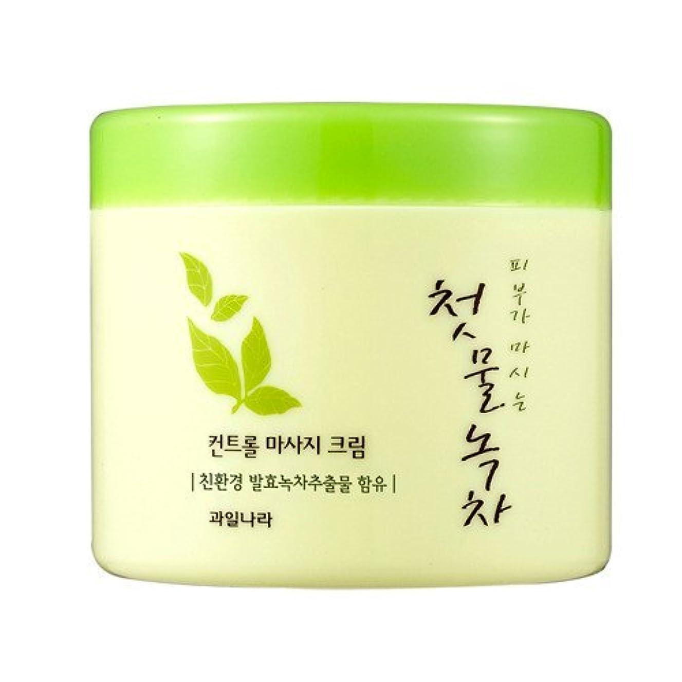 柔和おばさんインタフェースwelcos[ウェルコス] コントロールマッサージクリーム300ml/First Green Tea Control Massage Cream 300ml [並行輸入品]