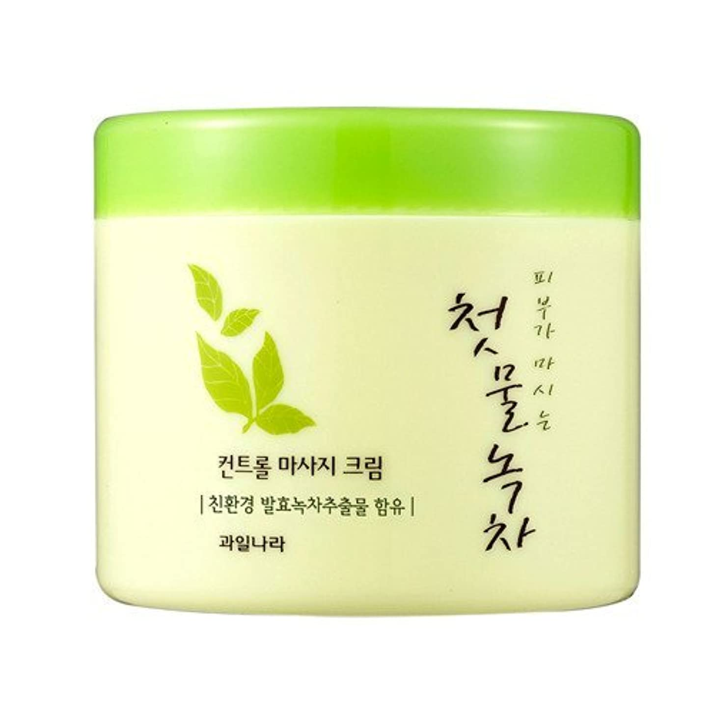 ドロップフラップラフ睡眠welcos[ウェルコス] コントロールマッサージクリーム300ml/First Green Tea Control Massage Cream 300ml [並行輸入品]