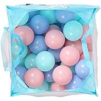 Smarty 50個安全Kids Swim Pit Toy 55 mmソフトプラスチック楽しいカラフルな海洋Balls withポータブルメッシュバッグ