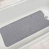 浴槽 すべり止めマット 風呂マット 転倒防止 すべり止め 介護用 浴槽用 吸盤つき 抗菌防カビ 100x40cm グレー