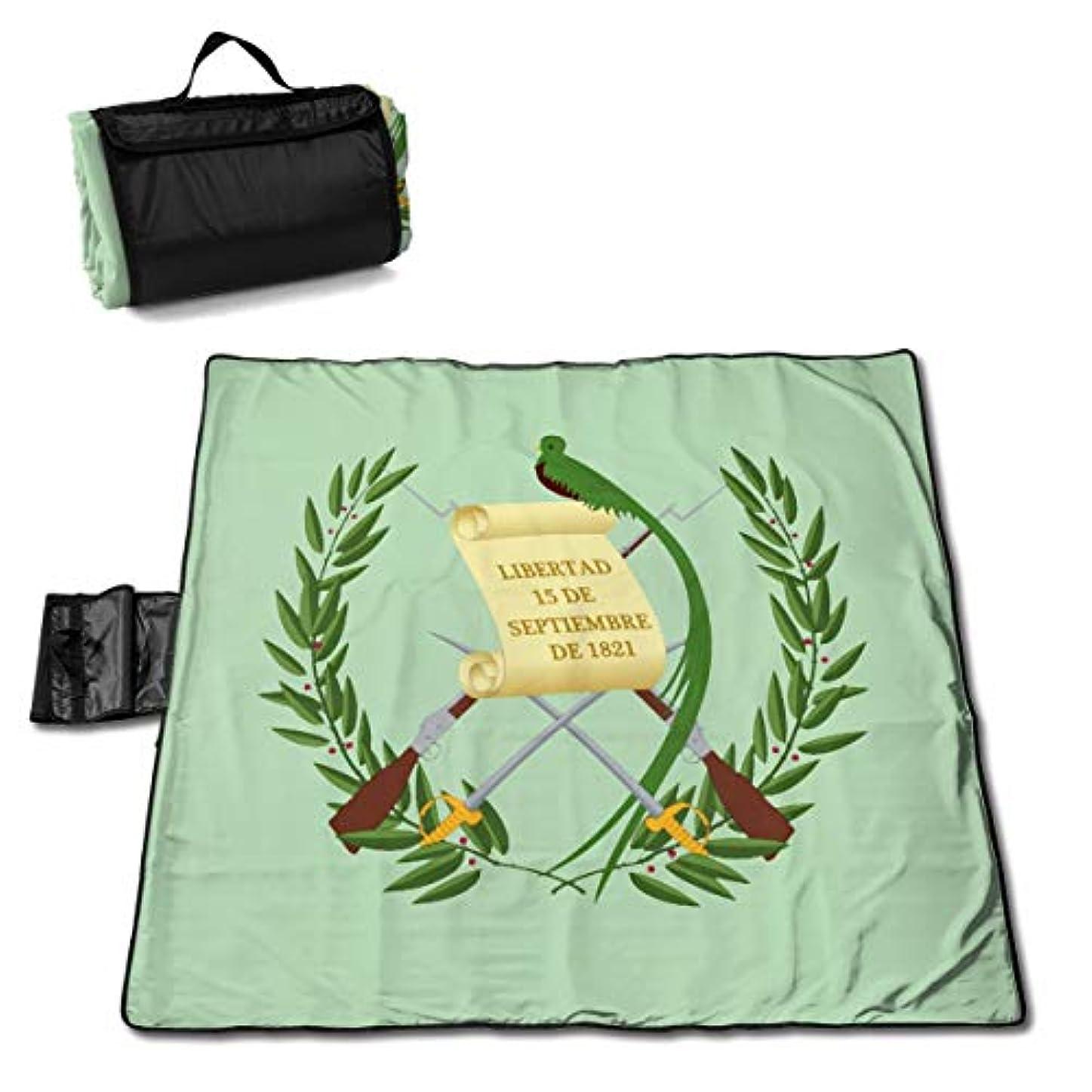 目を覚ますまた明日ねあたたかいグアテマラの国旗 ピクニックマット レジャーシート ファミリー レジャーマット 防水 防潮 マット 折り畳み 持ち運び便利 四季適用び おしゃれ花火大会 運動会 遠足 キャンプ 145×150cm