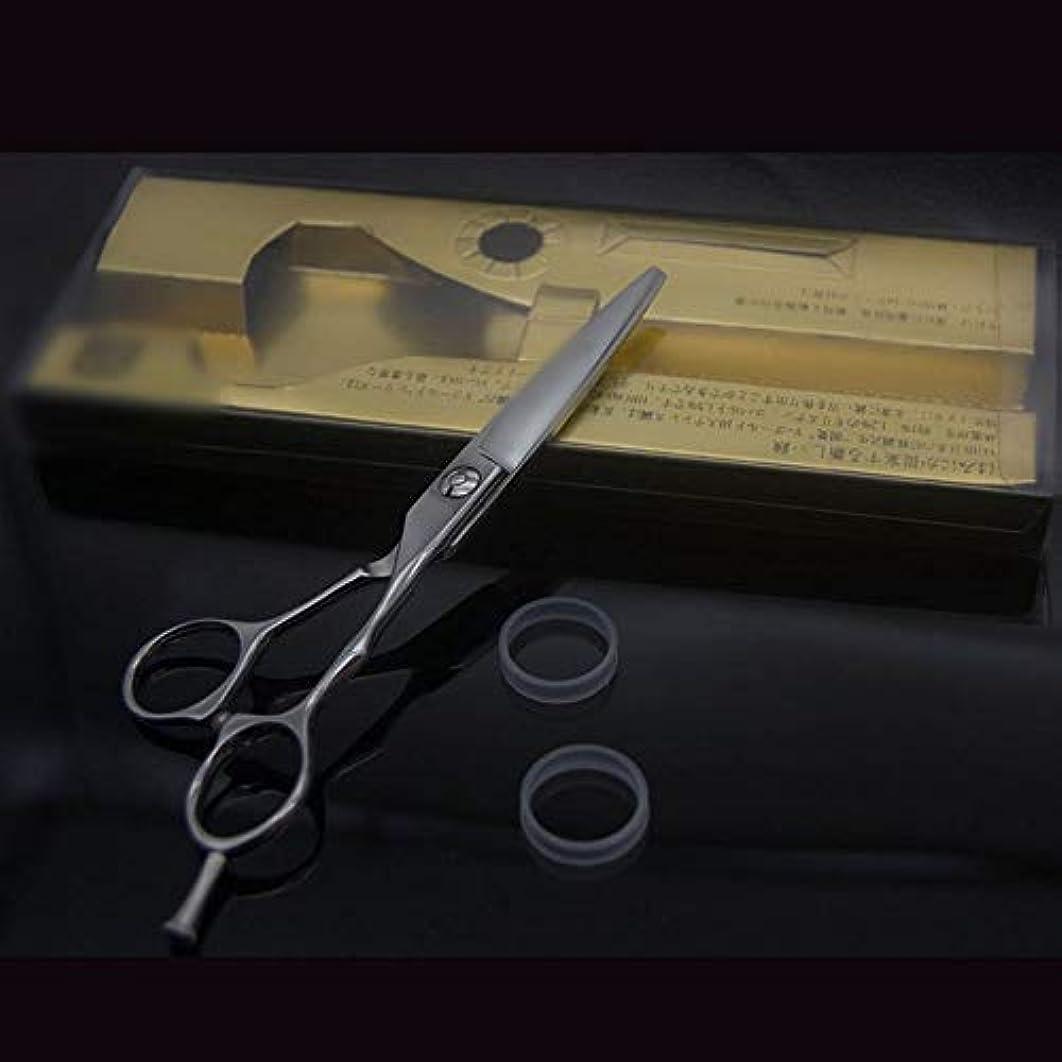 ターゲット甘くするマチュピチュ6インチ美容院プロフェッショナル理髪はさみ、ハイグレード滑り止めフラットはさみ モデリングツール (色 : Silver)