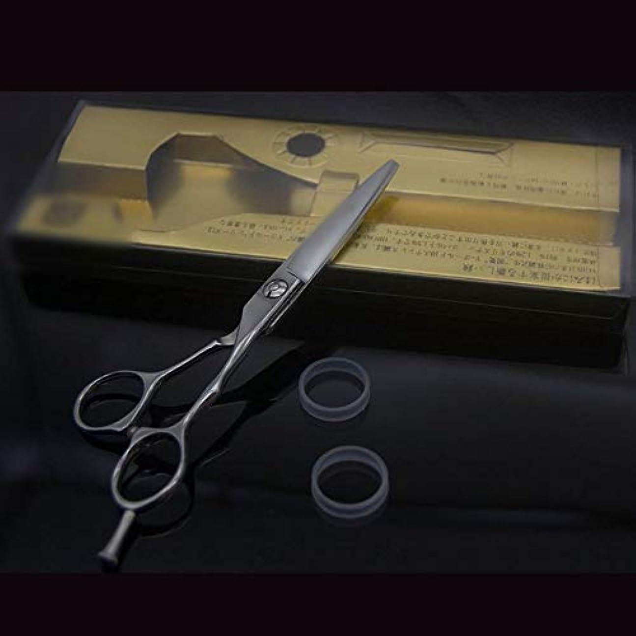 簡単なジャンクション群衆Goodsok-jp 6インチの美容師のプロの理髪はさみ高級な滑り止めフラットはさみ (色 : Silver)