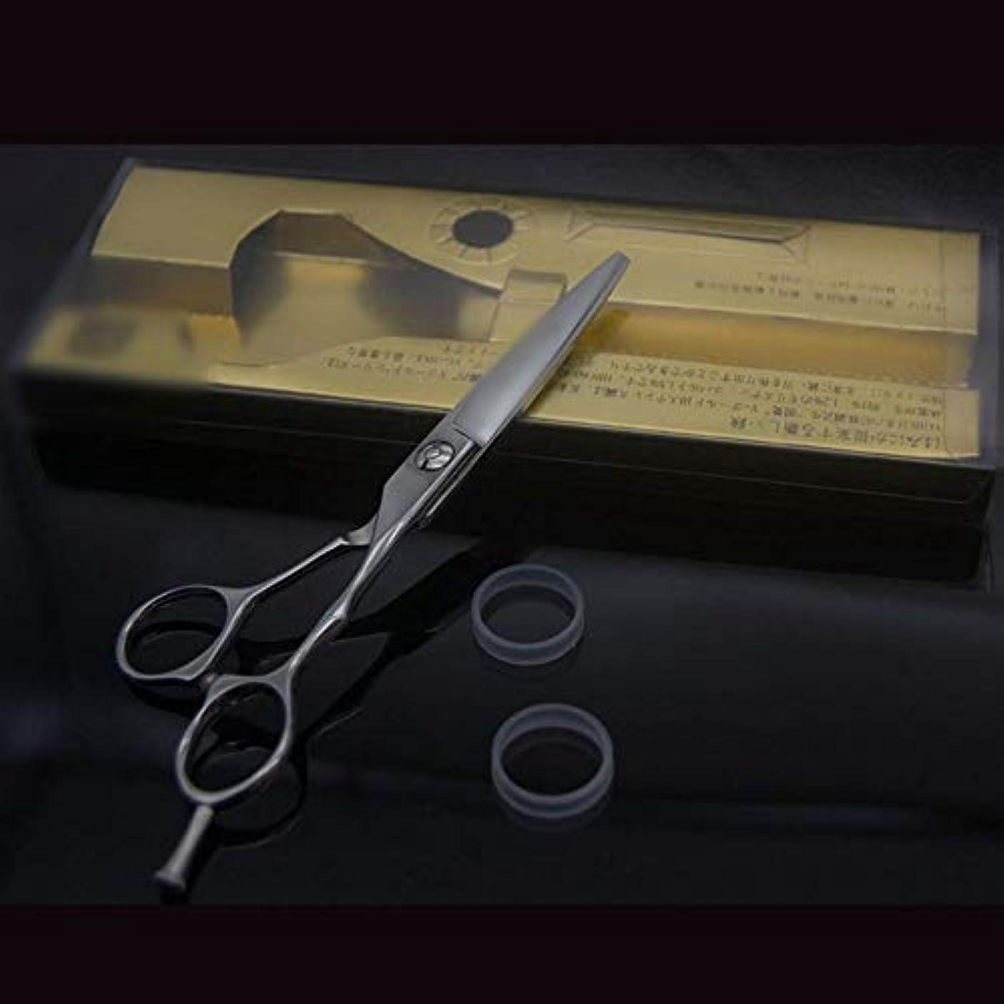 ウェイトレスバング犯人Goodsok-jp 6インチの美容師のプロの理髪はさみ高級な滑り止めフラットはさみ (色 : Silver)