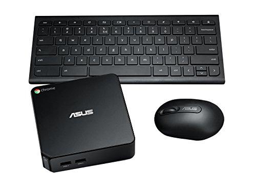 『【日本正規品】 ASUS ChromeBox シリーズ 日本語キーボード付属 ( ChromeOS / Celeron 2955U / 4GB / SSD 16GB / 無線LAN / HDMI ver1.4a DisplayPort1.2a / カードリーダー / ワイヤレスキーボード・マウス / ブラック ) CHROMEBOX-M130U』の1枚目の画像