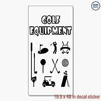 Golf Equipment Sports ビニールデカールラベルステッカー 小売店のサイン - きれいな表面に貼ることが可能 19.5 x 48インチ