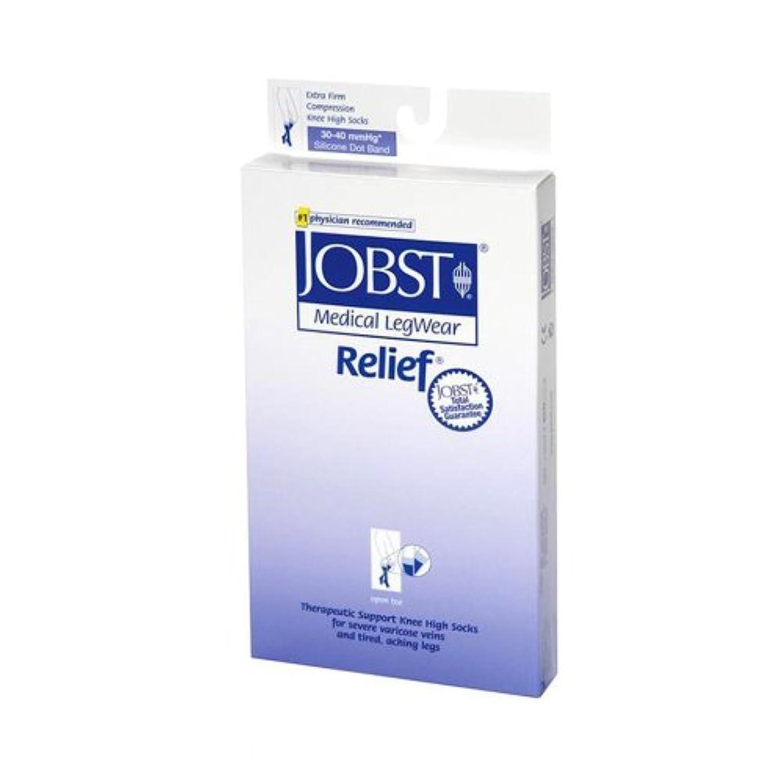 海上含むペチュランスJobst 114205 Relief 30-40 mmHg Open Toe Thigh Highs with Silicone Top Band - Size- Beige Medium