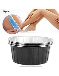 ワックスの溶けるボール、家または美容院10のPCのための小型アルミホイルの高温抵抗の再使用可能なワックスのマグ