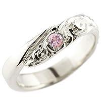 [アトラス] Atrus ハワイアン リング シルバー925 指輪 ピンクサファイア スパイラル 天然石 (9月誕生石) 2号