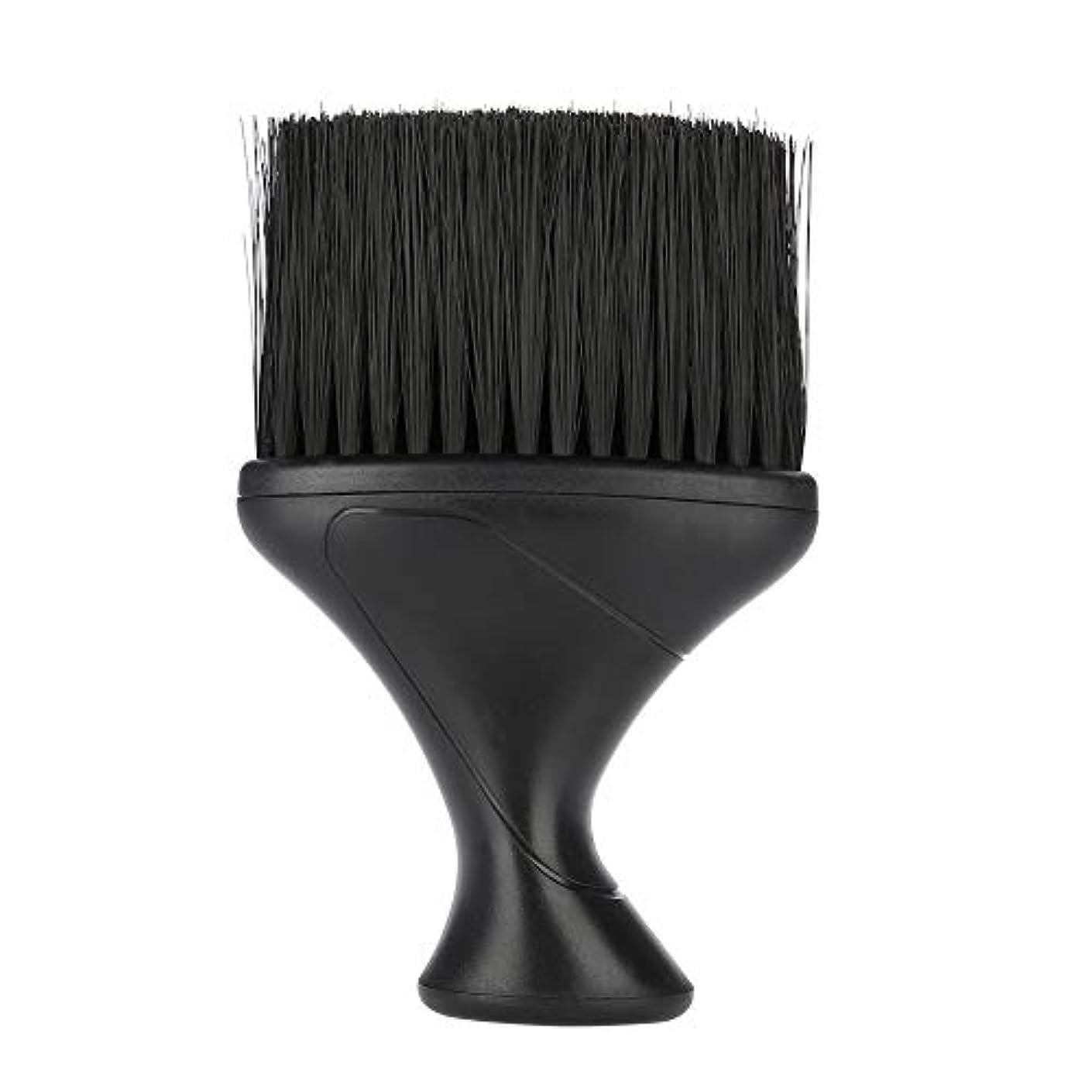 プレーヤー典型的な仮定、想定。推測ヘアブラシソフトヘアブラシネックダスター理髪ヘアカットスタイリングクリーニングブラシ