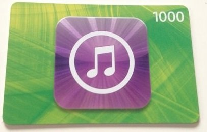 APPLE iTunes Card 1000