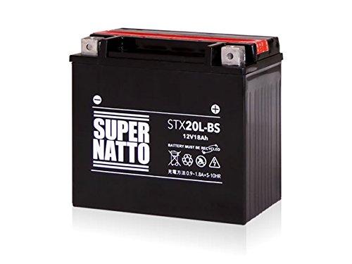 SUPER NATTO / STX20L-BS (互換型番 65989-90B 65989-97A 65989-97B 65989-97C) ハーレー用 バッテリー 密閉型 MF 20L-BS