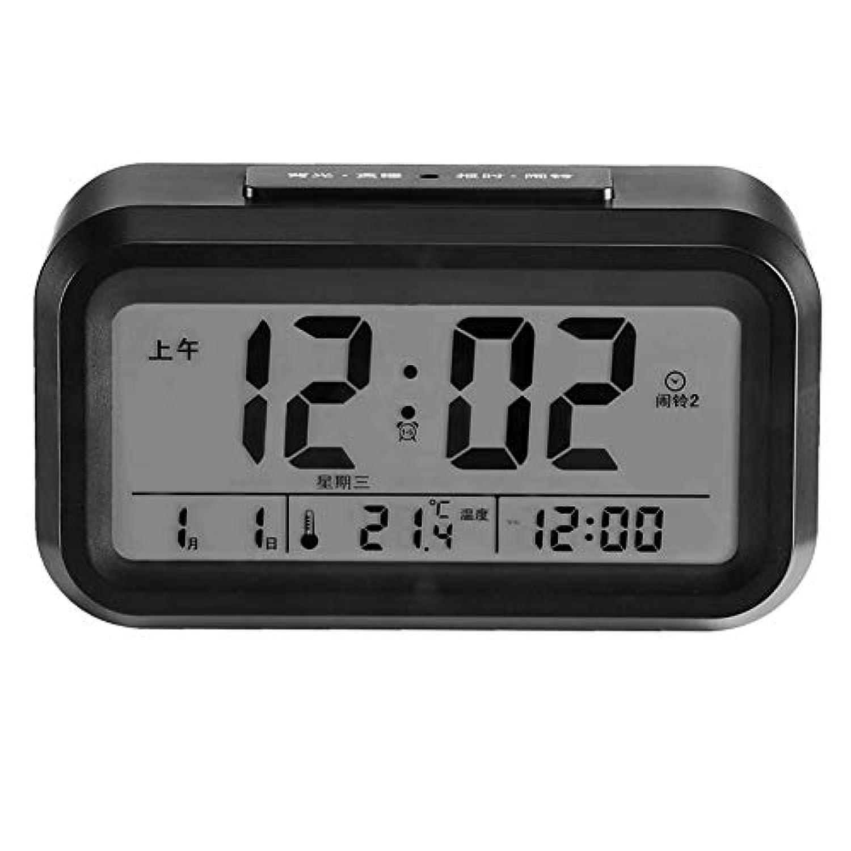 Seawang 目覚まし時計 トラベルクロック 旅行クロック デジタル デスククロック めざまし時計 夜間ライト 大きい文字 見やすい 多機能 置き時計