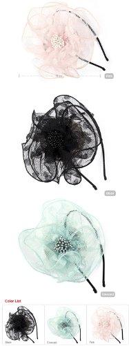 韓国ドラマ 『BIG』 ☆ missA スジ 着用 レース フラワー カチューシャ ☆ LACE FLOWER HAIRBAND (EMERALD)