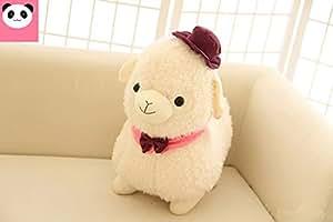 Doremo global ひつじ  ぬいぐるみ  アルパカ/羊  小さい  62cm   動物ぬいぐるみ 手触りふわふわ/かわいいぬいぐるみ (NO.1)