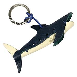 LA CUOIERIA(ラ・クオイエリア) キーホルダー ハンドメイド 本革 イタリア製 サメ P276
