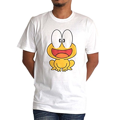 Tシャツ 半袖 メンズ ど根性ガエル ピョン吉 FRN2301M ぴょん吉 L ホワイト