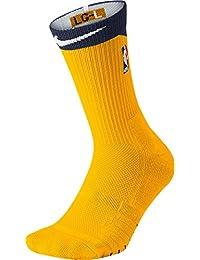 ナイキ アンダーウェア 靴下 Nike NBA Elite Quick Crew Basketball Soc Yellow [並行輸入品]