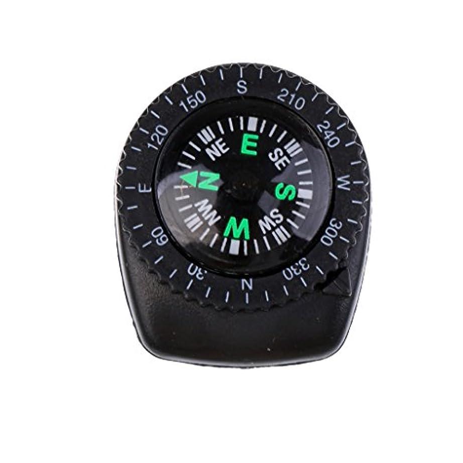 有毒な想像力豊かな放棄されたFityle サバイバル ミニ 高精度 腕時計型 手首バンド ナビゲーション コンパス ブラック