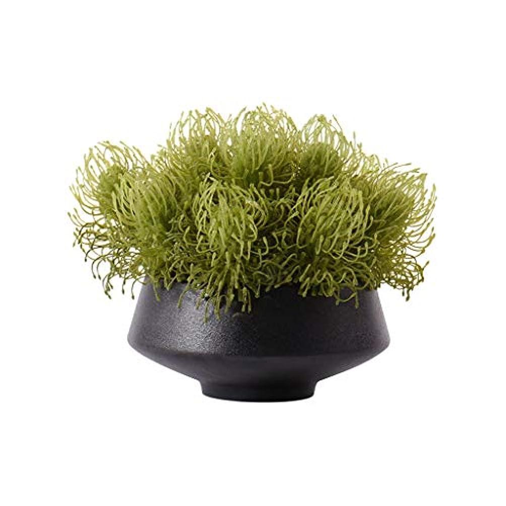 おかしい船形窓人工植物 中国風人工芝フェイクフラワー人工緑の植物、ホームリビングルームコーヒーテーブルテーブルフラワー装飾人工フラワーポット、人工植物 盆栽の木