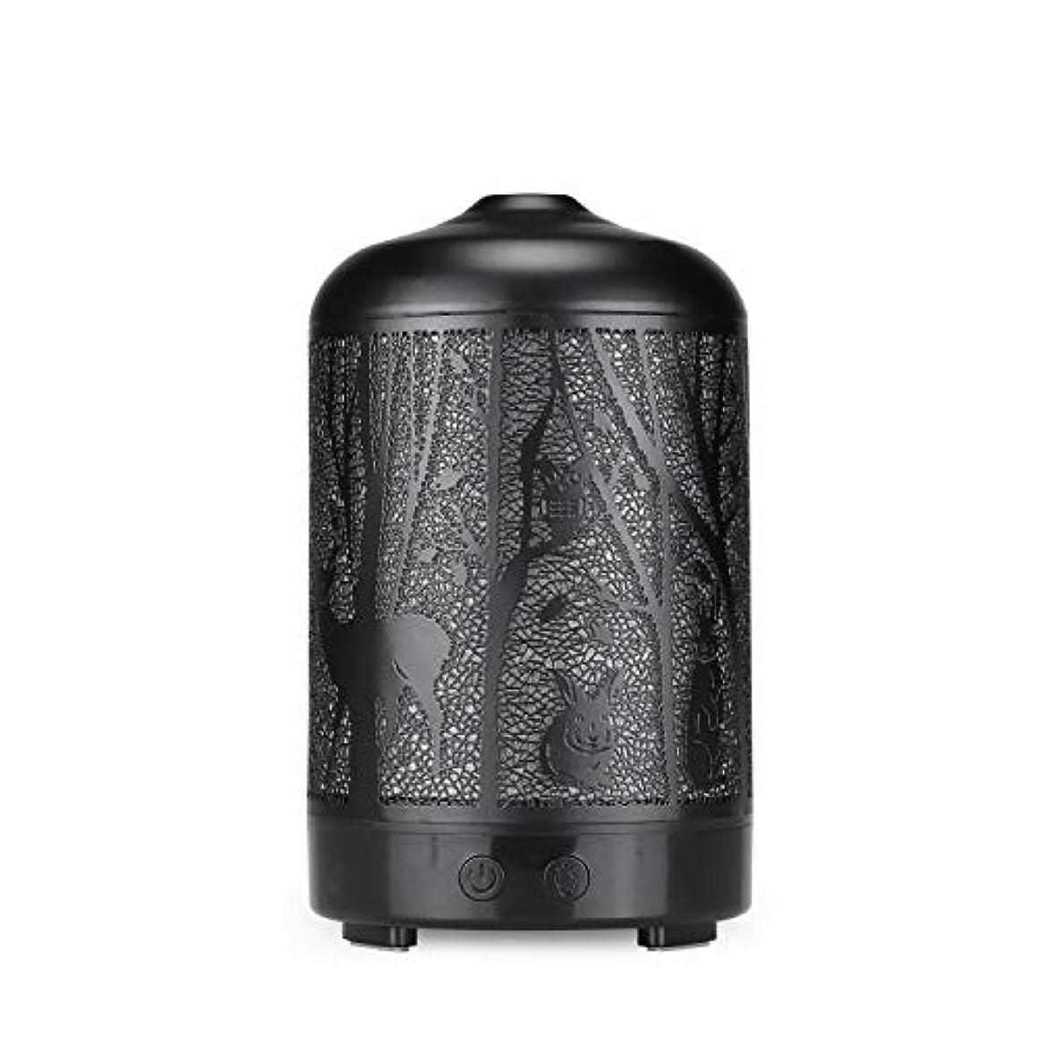 グラス吸収スリルエッセンシャルオイルディフューザー、100 ml超音波金属ディアーアロマセラピー香り油拡散気化器加湿器