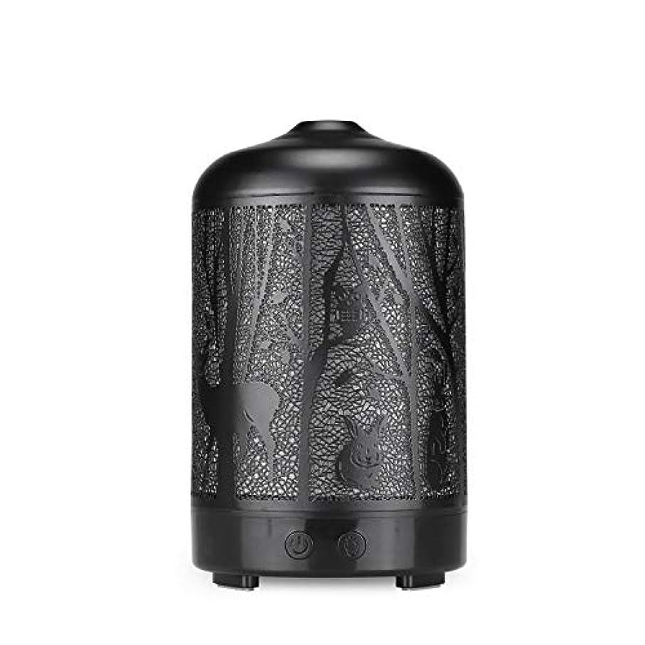 宿命合図浸透するエッセンシャルオイルディフューザー、100 ml超音波金属ディアーアロマセラピー香り油拡散気化器加湿器