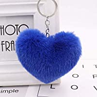 ファッションクリエイティブキーホルダー 車のキーリング、レディース財布バッグペンダントラブハート形のかわいいキーチェーン (Color : D, サイズ : One size)