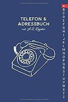Telefon & Adressbuch mit A-Z Register: Telefonbuch zum eintragen