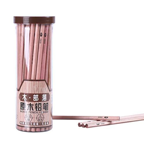 鉛筆 2B えんぴつ2B 50本セット 原木 リサイクル鉛筆 入園 入学 卒園 記念などプレゼントとしてに最適 (2B)