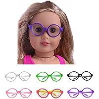 Prettyia 6ペア 18インチ 人形 ドール 眼鏡 メガネ 可愛い プレゼント