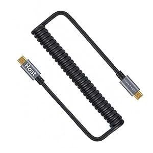 Micro USB変換ケーブル,CableCreation Micro USB to Micro USB コイルケーブル (0.17m〜1.5m) スプリングライン Micro USB OTGケーブル(金メッキピン及びアルミシェル) Androidスマートフォン/タブレット/DJIリモートなど対応 ブラック