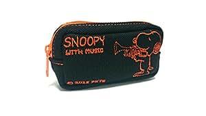 SNOOPY with Music トランペットマウスピースポーチ ブラック×オレンジ SMP-TPORL3 (ブラック×オレンジ)