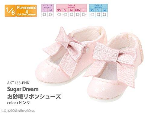 ピュアニーモ用 Sugar Dream お砂糖リボンシューズ ピンク (ドール用)