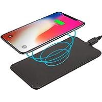 CASEBANK ワイヤレス 充電器 iPhoneX 充電パッド ワイヤレスチャージャー qi 充電器 iPhone8 / iPhone8 Plus/Galaxy Note8 / S8 / S8 Plus / S7 / S7 Edge/Note 5 / S6 Edge Plus/他Qi対応機種 PUレザー 3色選択可 (ブラック)