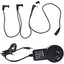Mr.Power Guitar effects Power Supply Adapter 9V DC 1A (1000mA) with Free Cable 3 Way Daisy Chain Cord/insulated cap