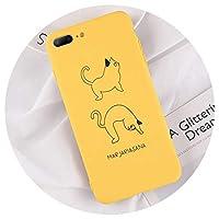 電話ケースのためのiphone x xr xs最大8 7 6 6 sプラス漫画ラブリーダックサボテンソフトtpuバックカバーケースのためのiphone x coque,T1,For iPhone 8