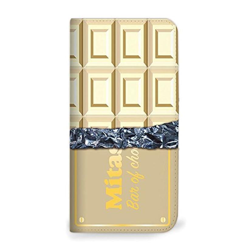 ディレクトリスロベニアこのmitas Galaxy S8 Plus SCV35 ケース 手帳型 ベルトなし チョコレート ホワイト (342) NB-0157-WH/SCV35