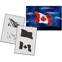 umr-design as-162 Kanadische Flagge Airbrushschablone XtraLarge AS-162 XL