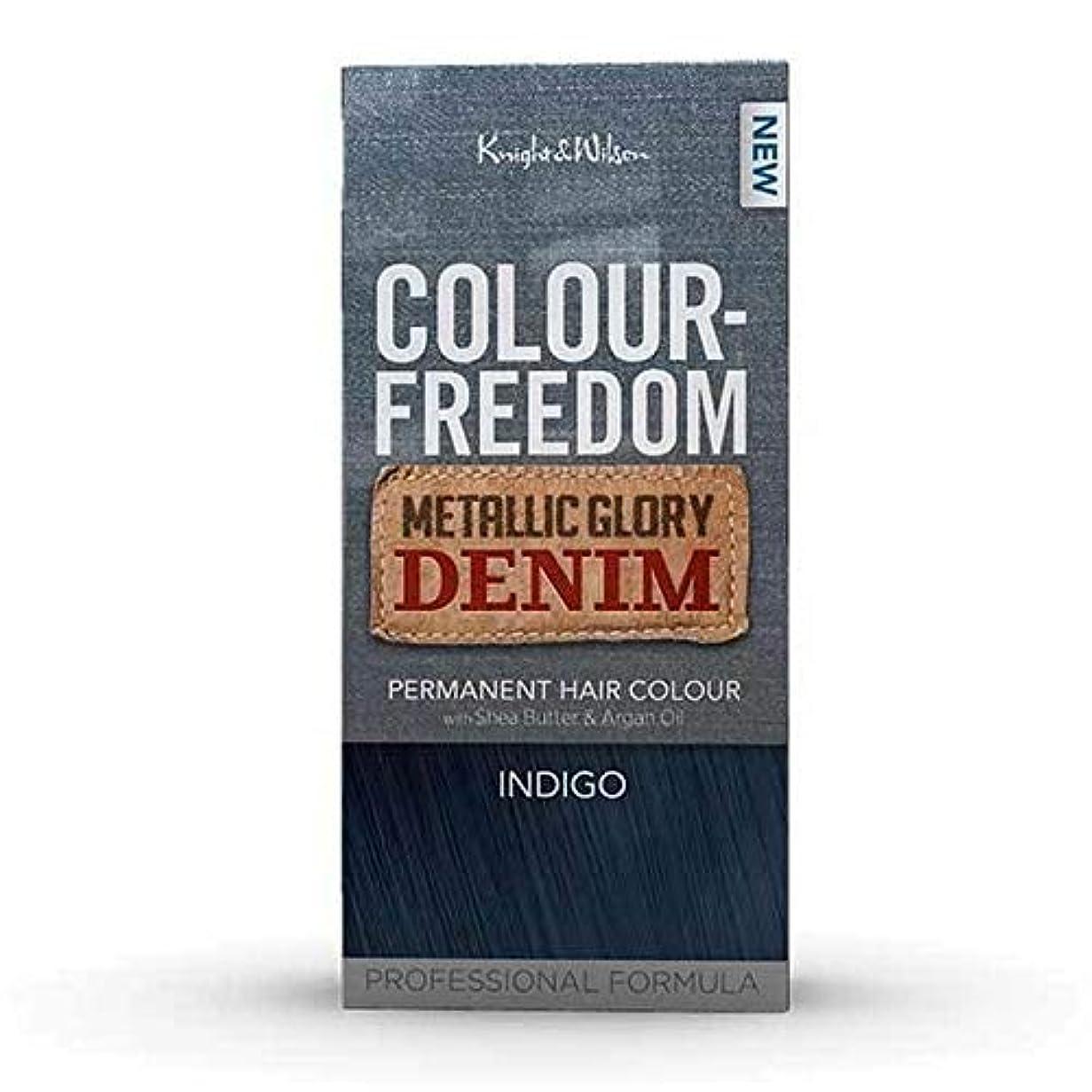 放射性代理店足音[Colour Freedom ] カラー自由メタリック栄光デニムインディゴ - Colour Freedom Metallic Glory Denim Indigo [並行輸入品]