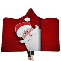 GHATS フード付きブランケットクリスマス冬暖かいバスマントフランネルウェアラブル子供大人ソフトスロー厚いタオルバスローブ (色 : 31, サイズ : 200*150)
