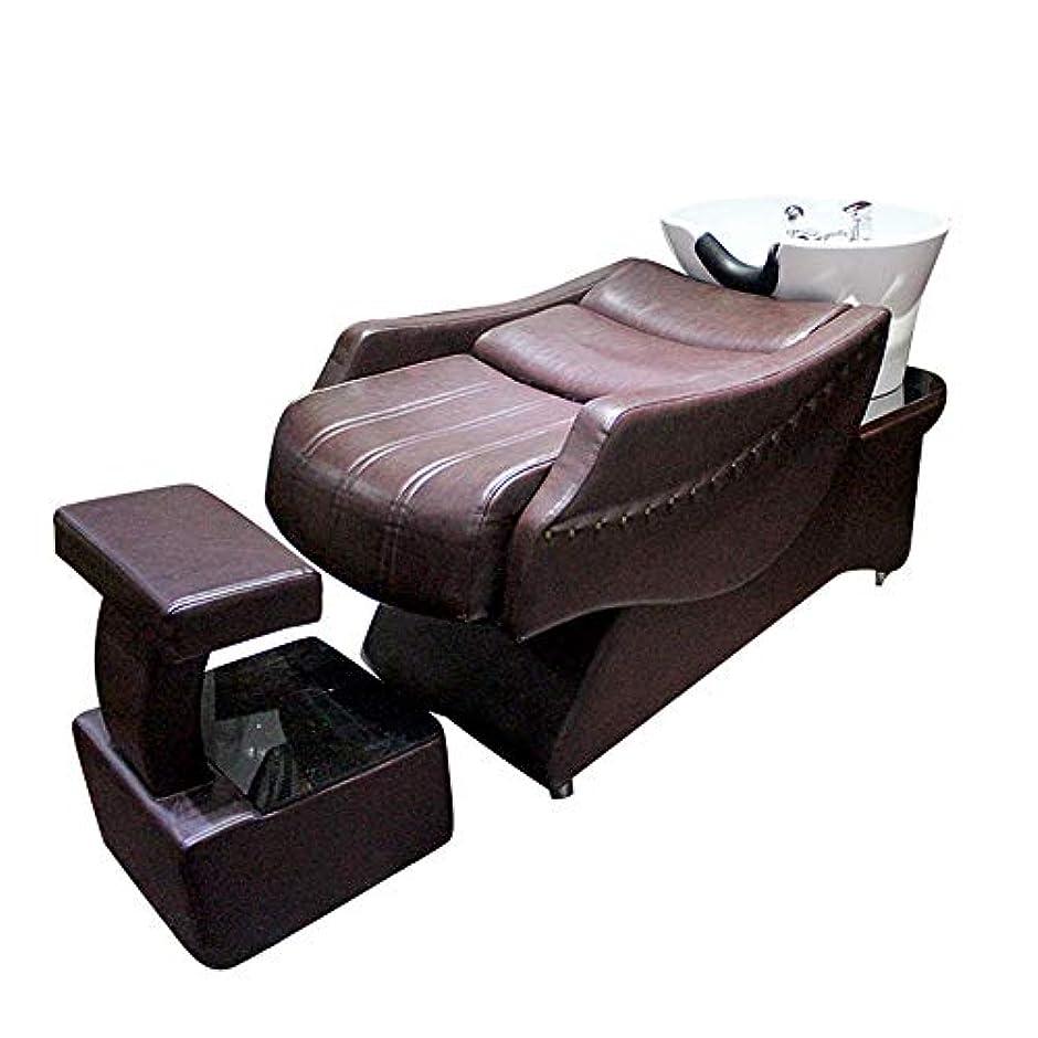 復活送るドアミラーシャンプーチェア、半横になっているシャンプーベッドの逆洗ユニットシャンプーボウル理髪シンクシンクチェア用スパ美容院機器