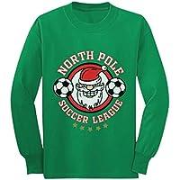 Santa's North Pole Soccer League Funny Christmas Youth Kids Long Sleeve T-Shirt