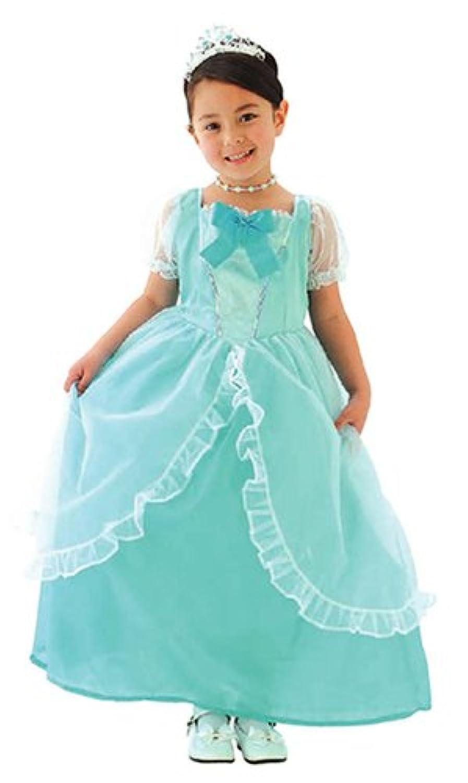 プリティシンデレラ プリンセスドレス キッズコスチューム ブルー 女の子