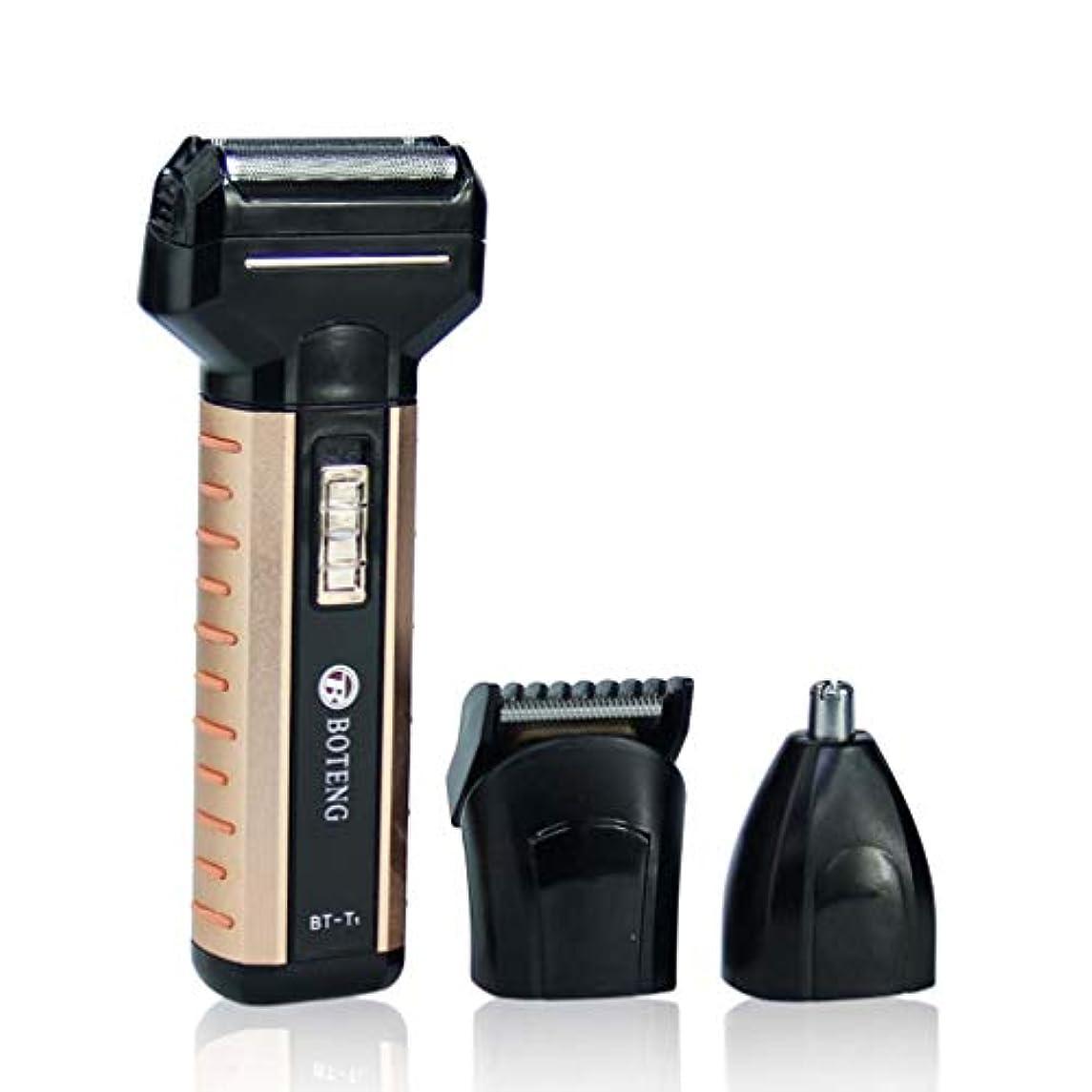 東ティモール発見する湿原頭と顔のための男性の電気カミソリ用USB充電式電気シェーバー、防水トリマーコードレス