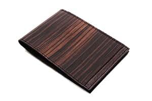 higgie memo holder (s) メモホルダー(S) BLACK×BROWN 黒檀・牛革(天然木使用) 20915001